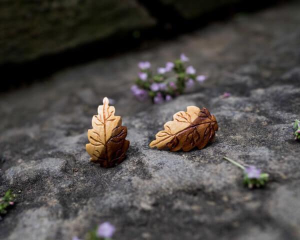 Ohrstecker aus Plaumenholz