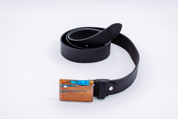 Ledergürtel mit Holzschnalle Ariel 5