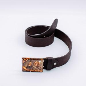 Ledergürtel mit Holzschnalle Astrea 6