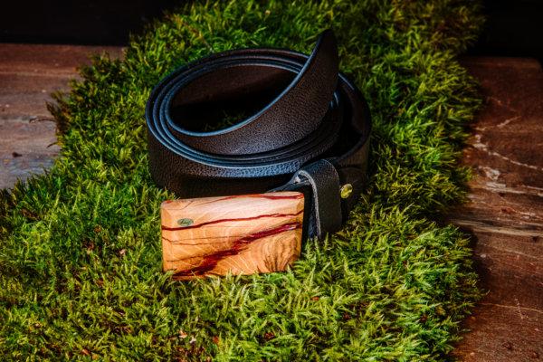 Ledergürtel mit Holzschnalle Kallisto 5
