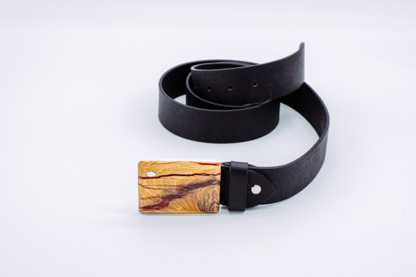 Ledergürtel mit Holzschnalle Kallisto 6