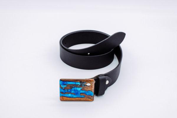 Ledergürtel mit Holzschnalle Neptun 6